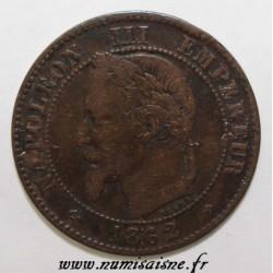 FRANCE - KM 796 - 2 CENTIMES 1862 BB - Strasbourg - TYPE NAPOLEON III