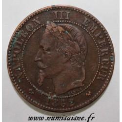 FRANKREICH - KM 796 - 2 CENTIMES 1862 K - Bordeaux - TYP NAPOLEON III