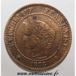 GADOURY 105 - 2 CENTIMES 1878 K - Bordeaux - TYPE CERES - Petit k - KM 827.1