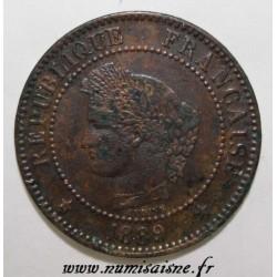 FRANKREICH - KM 827 - 2 CENTIMES 1889 A - Paris - TYP CERES