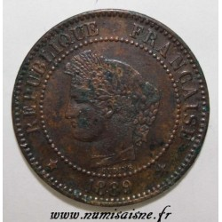 GADOURY 105 - 2 CENTIMES 1889 A - Paris - TYPE CERES - KM 827
