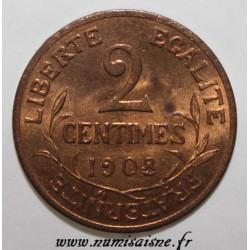 FRANKREICH - KM 841 - 2 CENTIMES 1908 - TYP DUPUIS