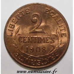 GADOURY 107 - 2 CENTIMES 1908 - TYPE DUPUIS - KM 841