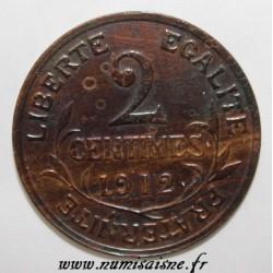 GADOURY 107 - 2 CENTIMES 1912 - TYPE DUPUIS - KM 841