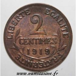 GADOURY 107 - 2 CENTIMES 1919 - TYPE DUPUIS - KM 841