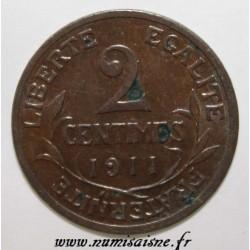 FRANKREICH - KM 841 - 2 CENTIMES 1911 - TYP DUPUIS