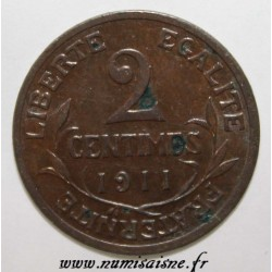 GADOURY 107 - 2 CENTIMES 1911 - TYPE DUPUIS - KM 841