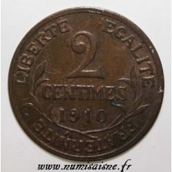 GADOURY 107 - 2 CENTIMES 1910 - TYPE DUPUIS - KM 841