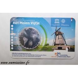 NETHERLANDS - KM 358 - 5 EURO 2014 - Kinderdijk windmills