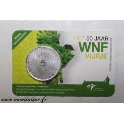 NETHERLANDS - KM 301 - 5 EURO 2011 - 50 years of the World Wildlife Fund