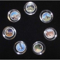 COIN SET - THE 7 NEW WONDERS OF THE WORLD