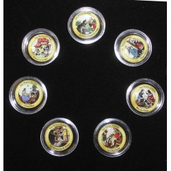 COIN SET - 7 COINS - THE BROTHERS GRIMM