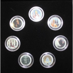 COIN SET - 7 COINS - TRIBUTE TO BENEDICT XVI