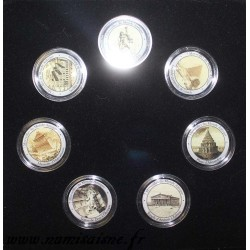 COIN SET - THE 7 WONDERS OF THE ANTIQUE WORLD