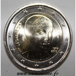 ITALY - 2 EURO 2019 - 500th ANNIVERSARY OF THE DEATH OF LEONARD OF VINCI