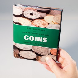 ALBUM DE POCHE 'COINS' POUR 48 MONNAIES JUSQU'A 33 mm