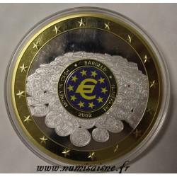 FRANCE - MEDAL - EUROPE - MONEY IN CASH 2002