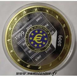 FRANCE - MÉDAILLE - 10 ANS D'EURO 2009