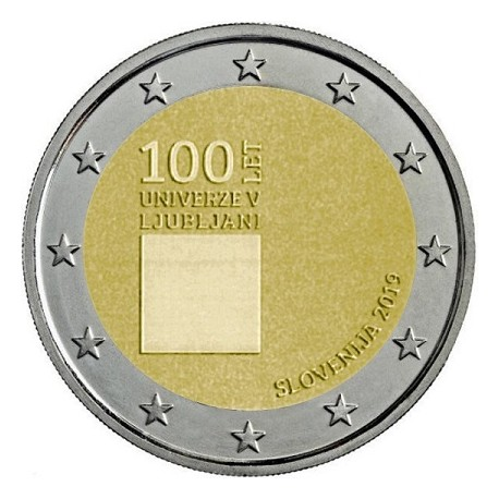 SLOVENIA - 2 EURO 2019 - 100 YEARS UNIVERSITY OF LJUBLJANA