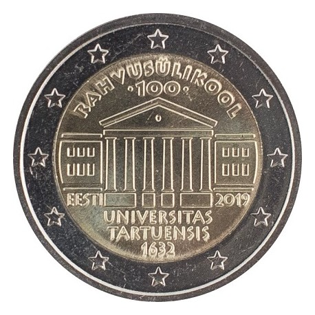 ESTONIA - 2 EURO 2019 - 100 YEARS UNIVERSITY OF TARTU
