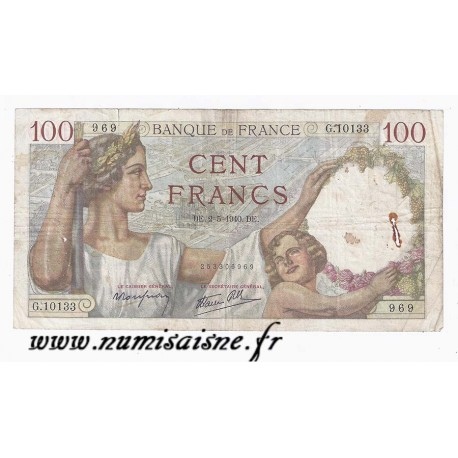 FRANCE - PICK 94 - 100 FRANCS 1940 - 02/05 - TYPE SULLY
