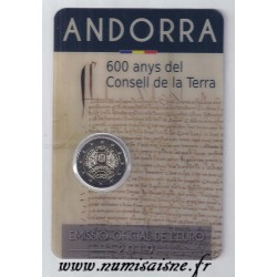 ANDORRA - 2 EURO 2019 - 600th ANNIVERSARY OF THE COUNCIL OF THE EARTH
