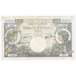 FRANCE - PICK 96 - 1000 FRANCS 1941 - 06/02 - TYPE TRADE AND INDUSTRY
