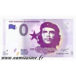 ESPAGNE - BILLET DE 0 EURO SOUVENIR - 90ème ANNIVERSAIRE DE CHE GUEVARA - 1928 - 2018