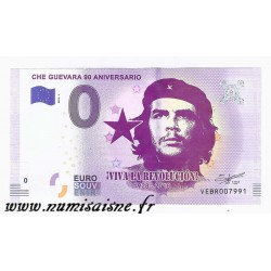 SPAIN - TOURISTIC 0 EURO SOUVENIR NOTE - 90th ANNIVERSARY OF CHE GUEVARA - 1928 - 2018