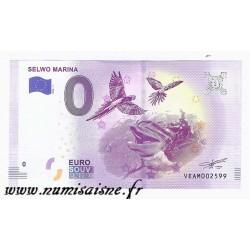 ESPAGNE - BILLET DE 0 EURO SOUVENIR - SELWO MARINA - DAUPHIN ET PERROQUET - 2018