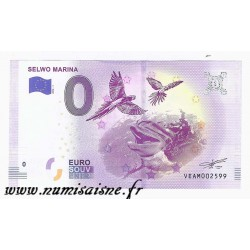 SPAIN - TOURISTIC 0 EURO SOUVENIR NOTE - SELWO MARINA - DOLPHIN AND PARROT - 2018