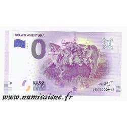 SPAIN - TOURISTIC 0 EURO SOUVENIR NOTE - SELWO AVENTURA - LION AND LIONESS - 2019
