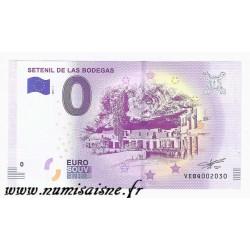 ESPAGNE - BILLET DE 0 EURO SOUVENIR - SETENIL DE LAS BODEGAS - 2018