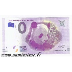 SPAIN - TOURISTIC 0 EURO SOUVENIR NOTE - ZOO AQUARIUM OF MADRID - PANDA - 2018