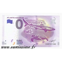 SPAIN - TOURISTIC 0 EURO SOUVENIR NOTE - ATLANTIS AQUARIUM - SHARK - TURTLE - CLOWNFISH - 2018