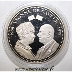 FRANKREICH - MEDAILLE - YVONNE UND CHARLES DE GAULLE - 1900 - 1979