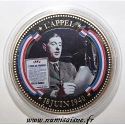 FRANCE - MÉDAILLE - L'APPEL DU 18 JUIN 1940