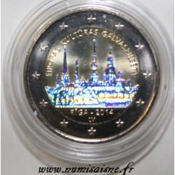 LETTLAND - 2 EURO 2014 - Riga Kulturhauptstadt Europas - HOLOGRAM