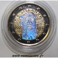 FINLANDE - 2 EURO 2013 - 125ème anniversaire F.E. Sillanpaa - HOLOGRAMME