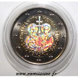 SLOVAQUIE - 2 EURO 2013 - 1150 ans de la mission Byzantine - HOLOGRAMME