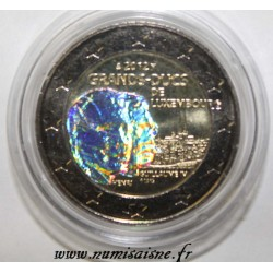 LUXEMBOURG - 2 EURO 2012 - GRANDS-DUCS GUILLAUME IV ET HENRI - HOLOGRAMME
