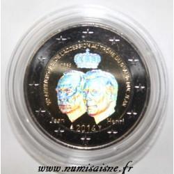 LUXEMBOURG - 2 EURO 2014 - 50ème anniversaire de l'accession au trône du Grand Duc Jean - HOLOGRAMME