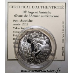 AUTRICHE - 10 EURO 2015 - 60 ANS DE L'ARMÉE AUTRICHIENNE