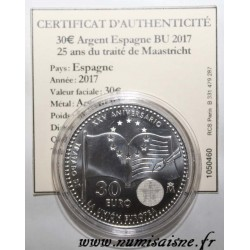 SPAIN - 30 EURO 2017 - 25 YEARS OF THE MAASTRICHT TREATY