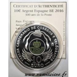 ESPAGNE - 10 EURO 2016 - 300 ANS DE LA POSTE