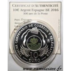 SPAIN - 10 EURO 2016 - 300 YEARS OF POST