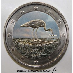 LATVIA - 2 EURO 2015 - THE STORK - COLOR