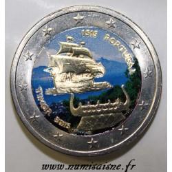 PORTUGAL - 2 EURO 2015 - 500 ANS DU 1er CONTACT AVEC LE TIMOR - COULEUR