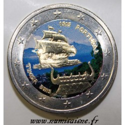 PORTUGAL - 2 EURO 2015 - 500 YEARS OF THE 1st CONTACT WITH TIMOR - COLOR