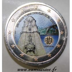 PORTUGAL - 2 EURO 2013 - 250 ANNIVERSAIRE TOUR DES CLERCS - COULEUR
